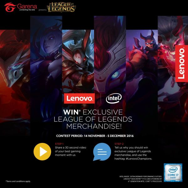Lenovo and Garena have partnered up to bring you the 'League of Champions' event.