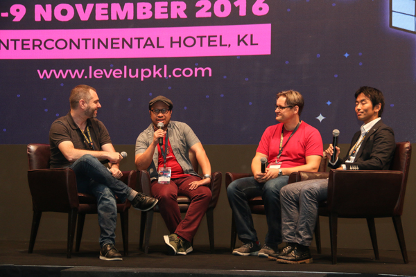 From L-R: Mike Sheetal, Founder and Chief Executive Officer of PlayBrain; Wan Hazmer, Lead Game Designer of Final Fantasy XV; Ilari Kuittinen, Chief Executive Officer of Housemarque; and Atsuo Nakayama, Chief Operating Officer of Bushiroad SEA.