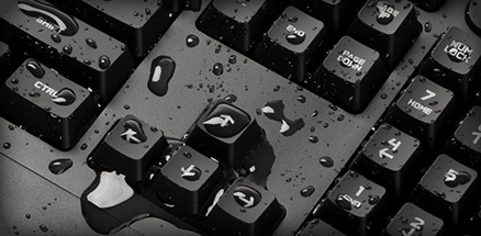 Spilled some water on the G213? Not a problem. It's splash-resistant!