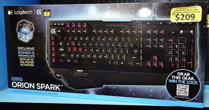 The Logitech Orion Spark is a mechanical keyboard that features custom Romer G keys, its customizable colors and the Arx Dock makes it ideal for a gaming. It's priced at $209 (UP: $249).