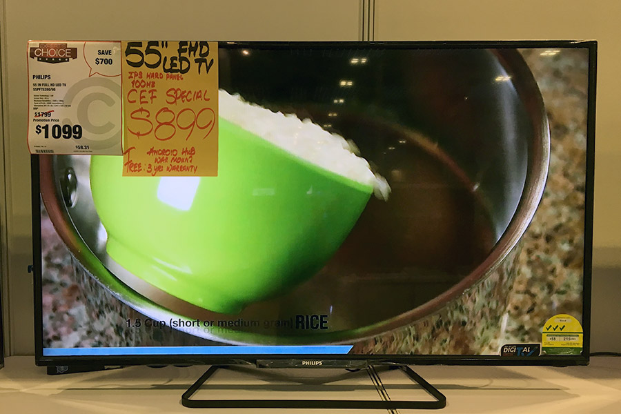 Courts has many Philips TVs on offer at CEF. If you don't need 4K and just want a large-screen TV, there's this 55-inch 1080p Philips TV going for just $899. Even includes an Android hub, wall mount, and 3 years of warranty.