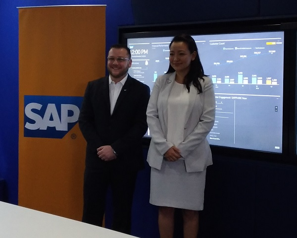 Ryan Poggi, Managing Director, SAP Philippines (right). Kathleen Muller, Head, Analytics and Insight, SAP Southeast Asia (left)