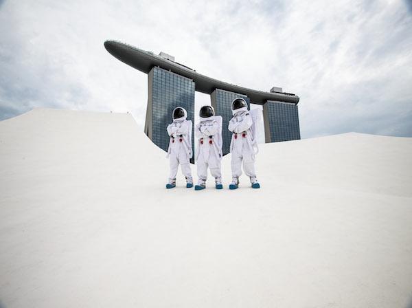 Credit to NASA, Marina Bay Sands