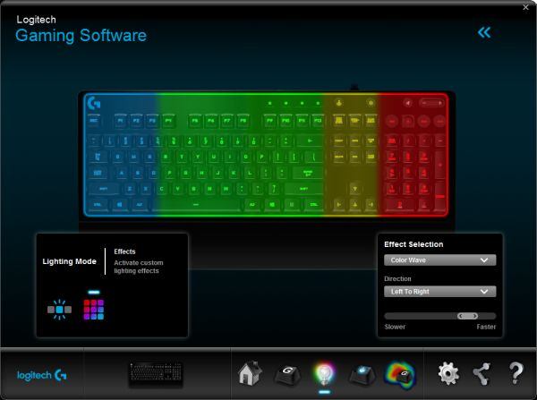 Install the Gaming Software to customize the lighting effects.