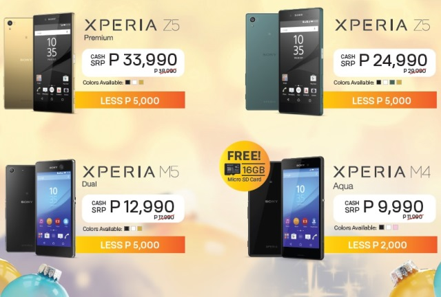 Find the perfect gift this christmas with sonys irresistible if youre a bit tight on the budget you can get the sony xperia m4 aqua at php 9990 with a free 16gb microsd card it offers a 13 megapixel camera in negle Image collections