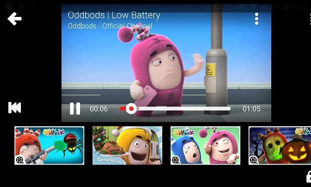 Watching Oddbods - hilarious for more knowledgeable kids (and even adults), but not for my 3-year old who may not know how to interpret their behavior in the right context.