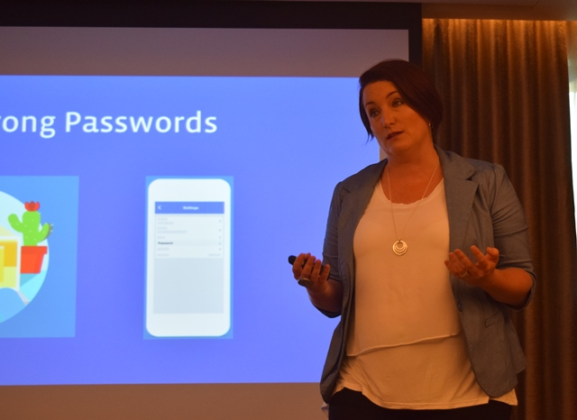Mia Garlick, Director of Safety, Facebook APAC, at the Facebook Media workshop