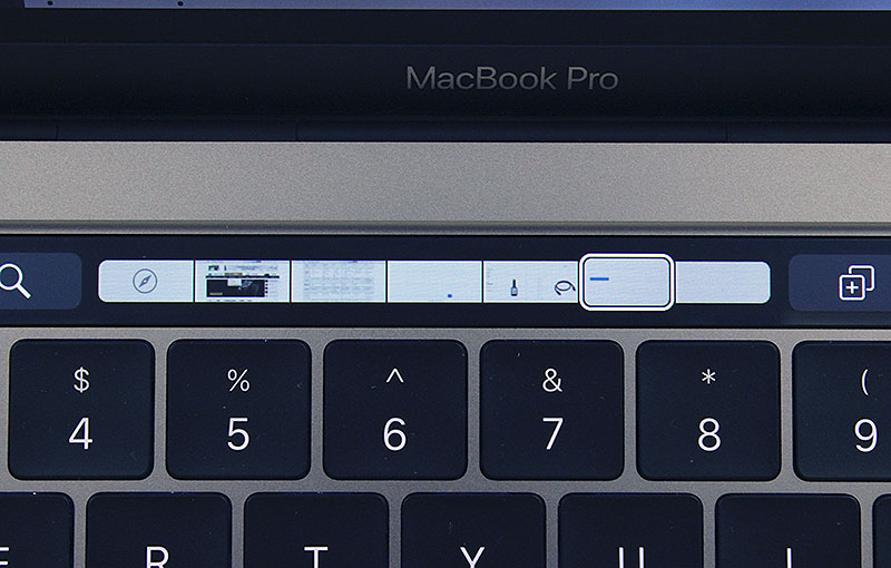 In Safari, Touch Bar shows you a tiny preview of your opened tabs. To be honest, they are far too small to be of any use.