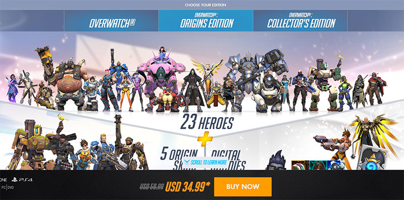 Pre-Purchase Overwatch, Origins Edition, or Collector'-s Edition ...