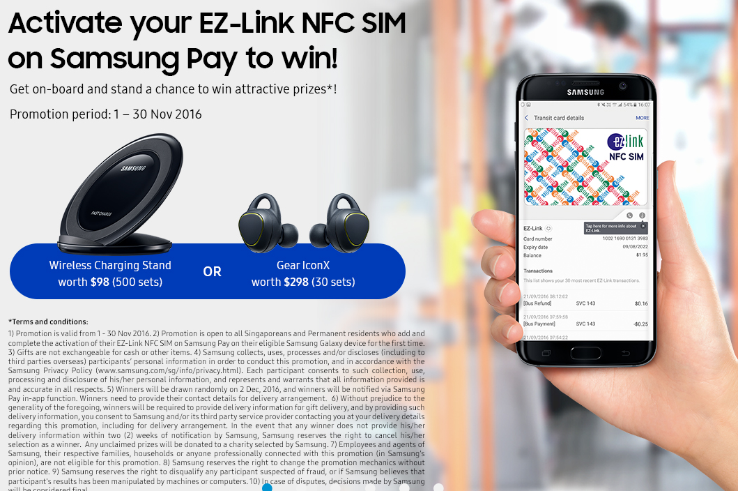 Samsung Pay now supports barcode loyalty cards and EZ-Link NFC SIM