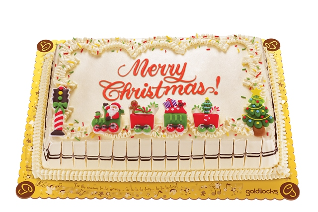 Christmas Greeting Cake