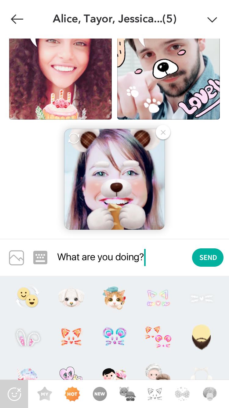 LINE's B612 selfie app uses selfies to create multi-panel