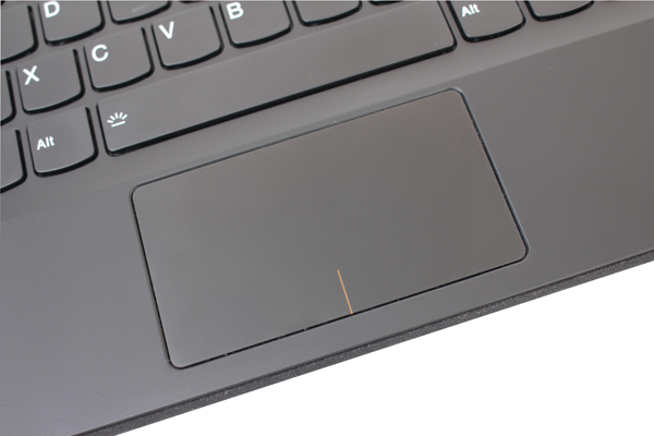 The touchpad of the MIIX 510 works perfectly fine, but it's just a tad to small and inconvenient to be used for rigorous work.