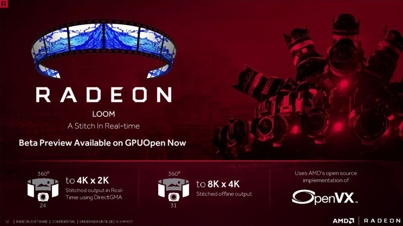 Imagine stitching 4K videos to create a 360 degrees interactive video, in real time. Sounds impossible? Not so, with AMD's new Radeon Loom.