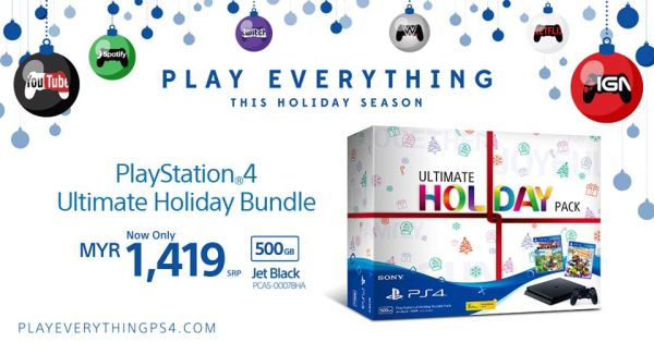 The ne PlayStation Ultimate Holiday Pack provides you with the definitive way of beginning your PlayStation 4 game library just in time for Christmas. <br> Image Source: Sony