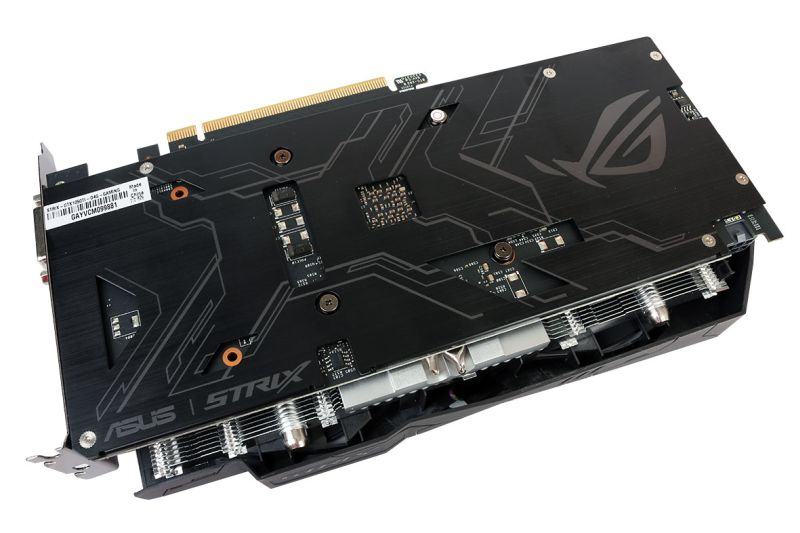 Like all ASUS Strix cards, the backplate of this card is nothing short of sleek.