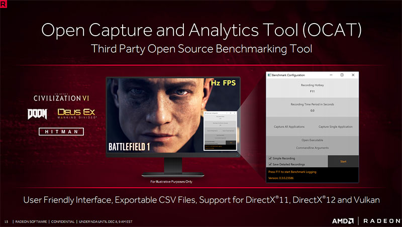 OCAT completes AMD's toolkit to give gamers everything they need to have the best possible experience.