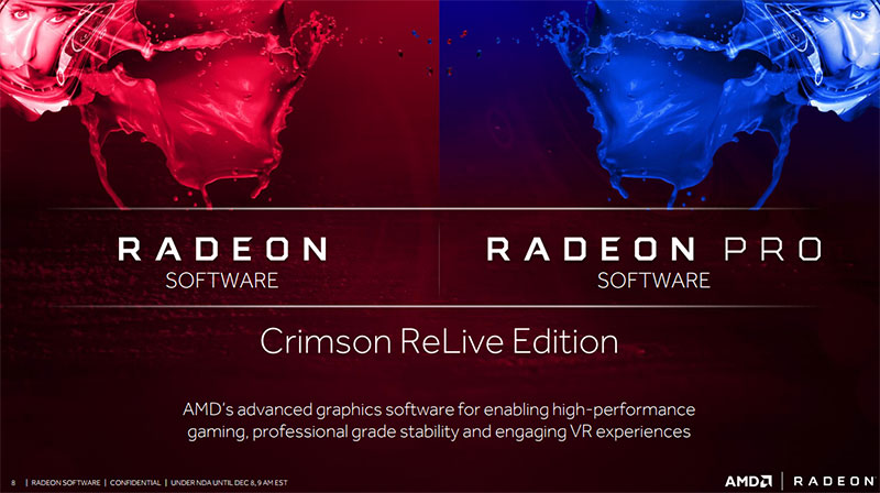 The next major version of AMD's Radeon Software is the Crimson ReLive Edition.