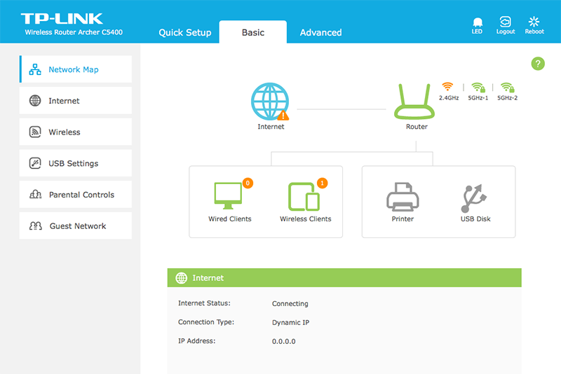 The setup interface on the TP-Link Archer C5400 has been improved in a few crucial areas.