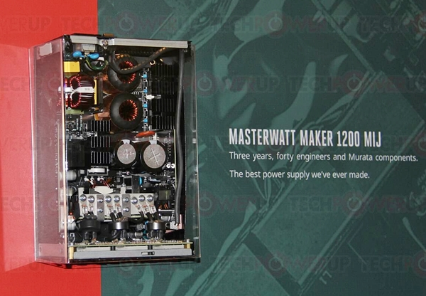 The Cooler Master MasterWatt Maker 1200 MIJ. (Image source: techPowerUp)