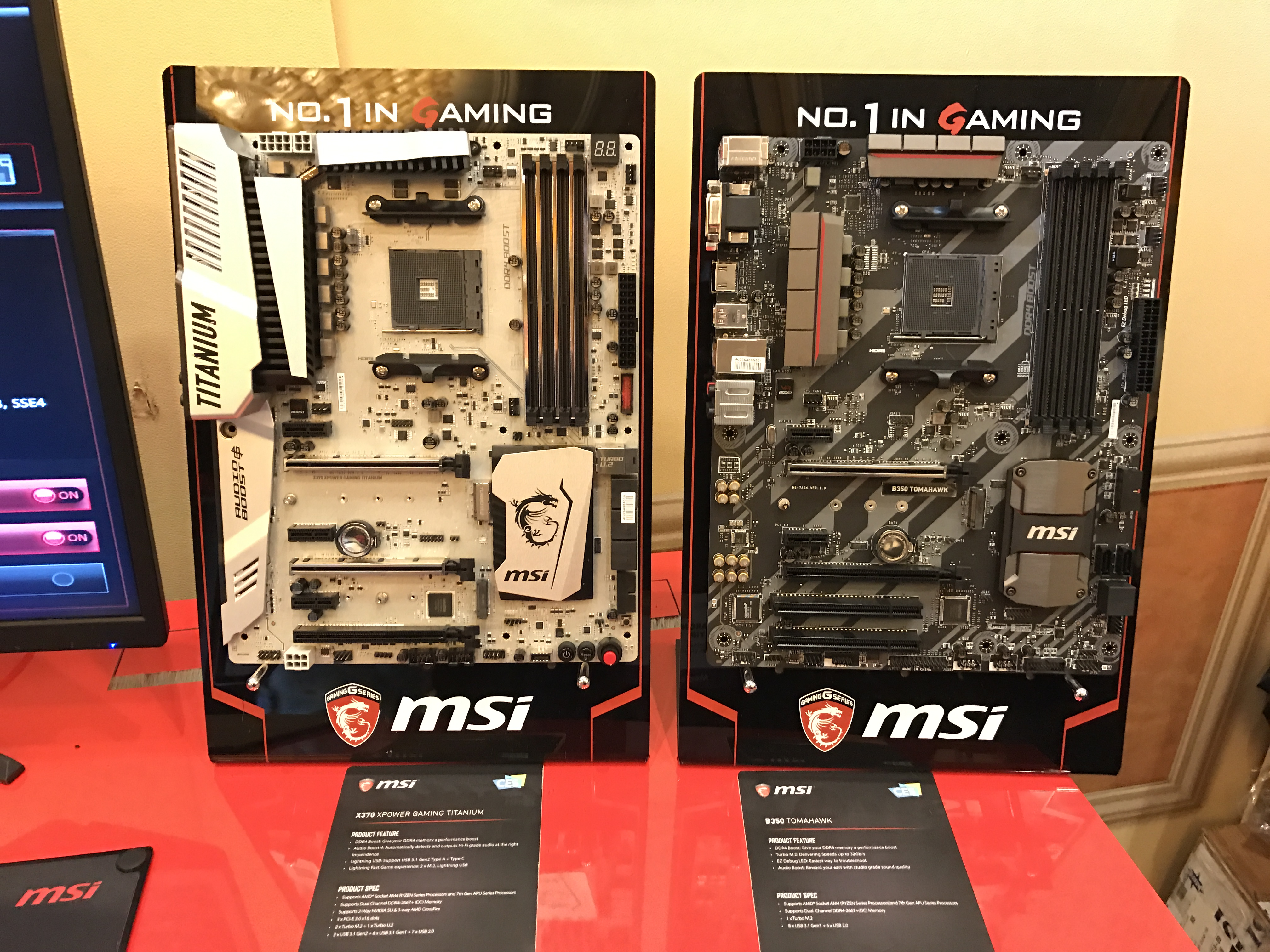 MSI shows off two AM4 Motherboards ready for AMD's Ryzen processors