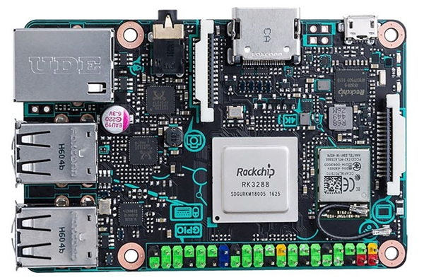 The ASUS Tinker Board. (Image source: ASUS via Wired UK)