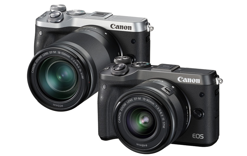 The EOS M6 will be available in a choice of black graphite or vintage silver and black.