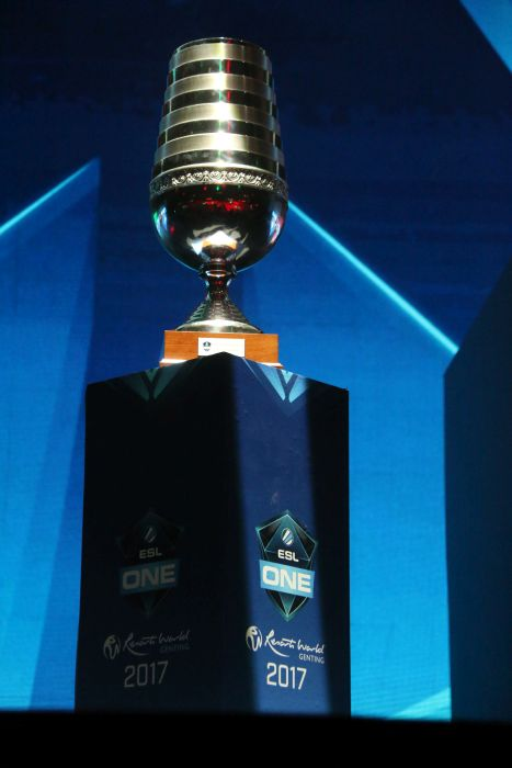 The ESL championship cup: This is what the winning team will get. That, and the US$250,000 prize money.