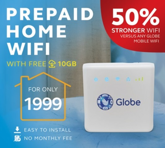 Globe Introduces Prepaid Home Wifi For Only Php 1 999 Hardwarezone