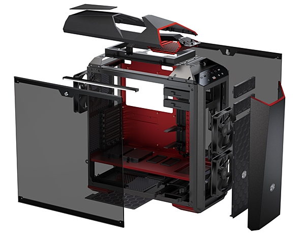 The exploded view of the MasterCase Maker 5t. (Image source: Cooler Master)