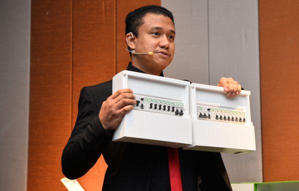 Mazliazhar Abdul LAtif, Senior Product Marketing Engineer, Schneider Electric Malaysia, explaining more about the RCBO.