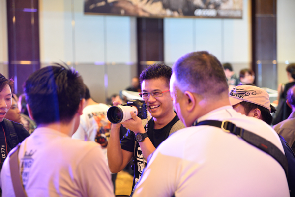 Attendees had the chance to experience the new cameras for themselves.