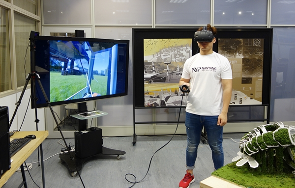 "At the program launch, a third-year student from the School of Design, used the HTC Vive to showcase the virtual reality model of his design project, ""The Living Shell"". It was rendered in 3DS Max with accompanying VR plug-ins."