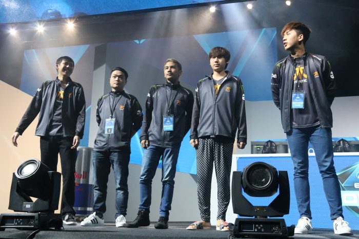 Team Fnatic was one of the first teams that kicked off the event.