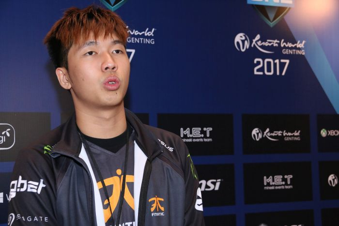 Ohaiyo from Team Fnatic speaks to us during an interview about his team's performance today.