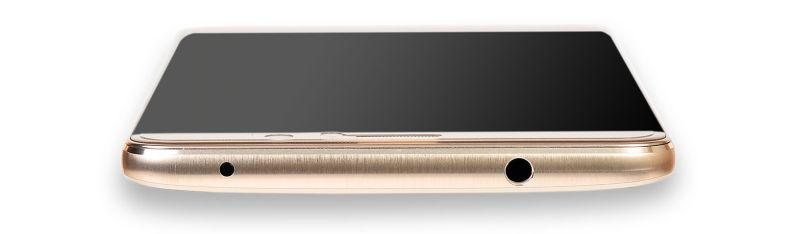 A 3.5mm headphone jack sits at the top of the phone.