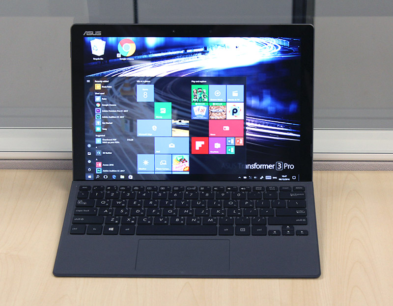 The ASUS Transformer 3 Pro is well designed and has the sharpest display of the lot.