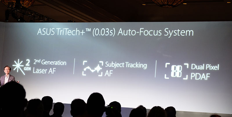 ASUS says the autofocus system can lock on in just 0.03s.