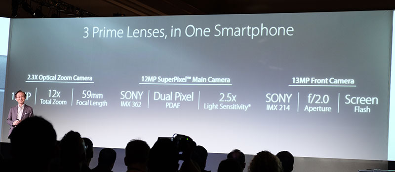 ASUS wasted no time in showing off the phone's camera hardware.