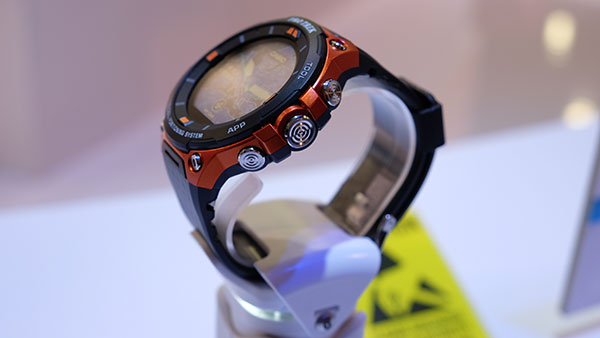 Casio has added button guards and a new protective bezel to the watch.