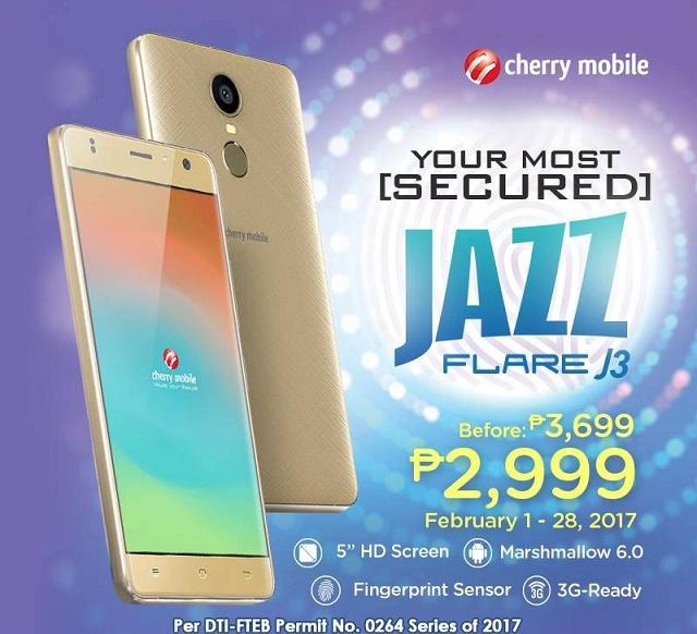 cherry mobile, flare j3, smartphone, affordable, budget phone, fingferprint sensor, android 6.0 marshmallow, mediatek, mt6580, alcatel pixi 4 plus power, sm cyberzone