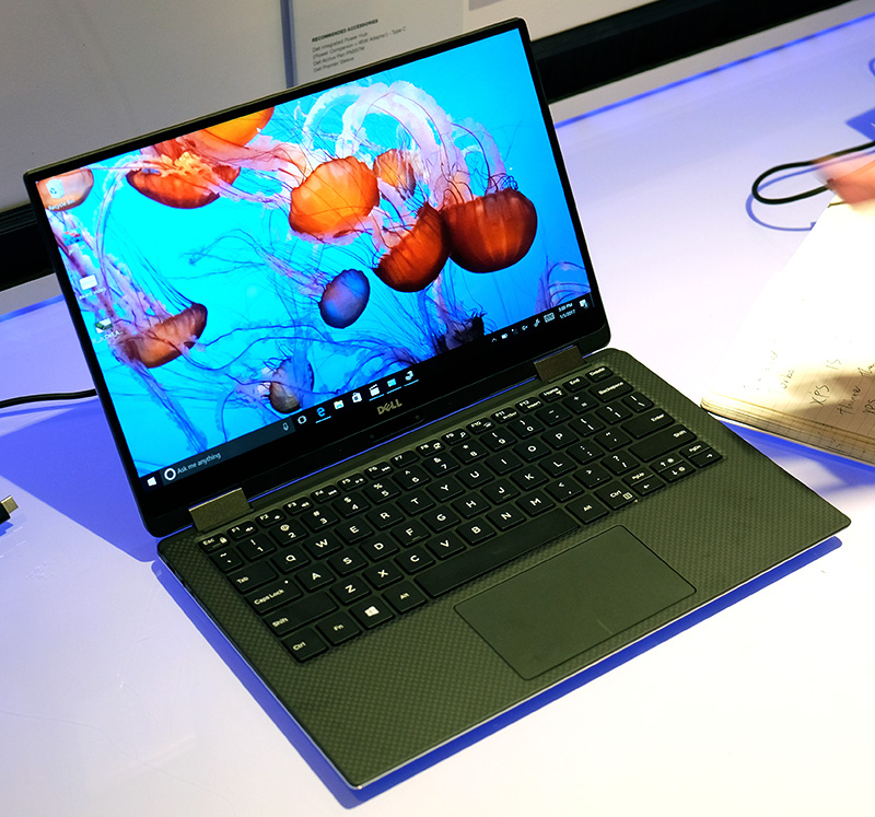 This is the new Dell XPS 13 2-in-1. Looks just like the regular XPS 13, doesn't it?