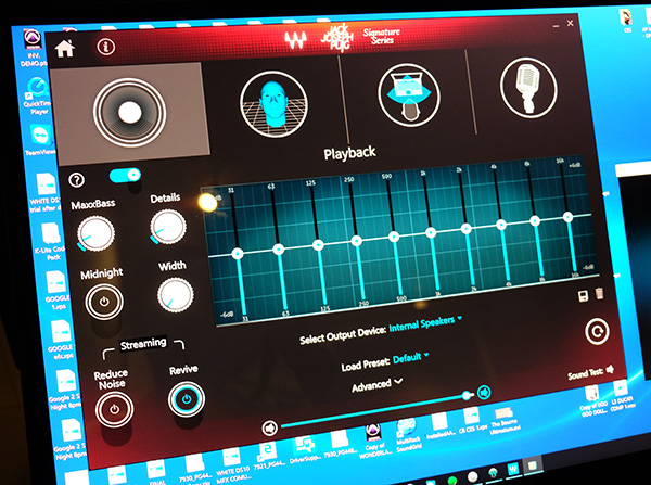 This app allows user to customize and tweak the XPS 27's sound signature to their preference.