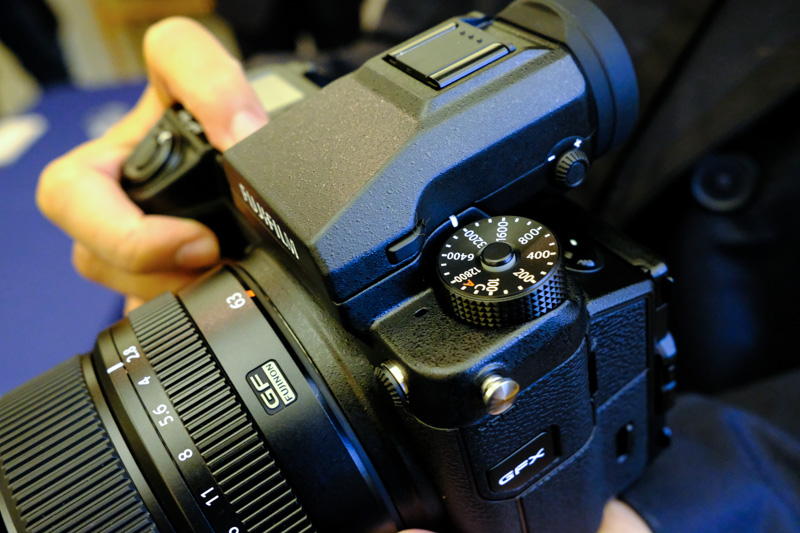 A nice deep grip lets you easily hold the camera.