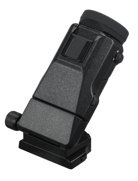 The EVF-TL1 allows you tilt the EVF upwards and sideways.