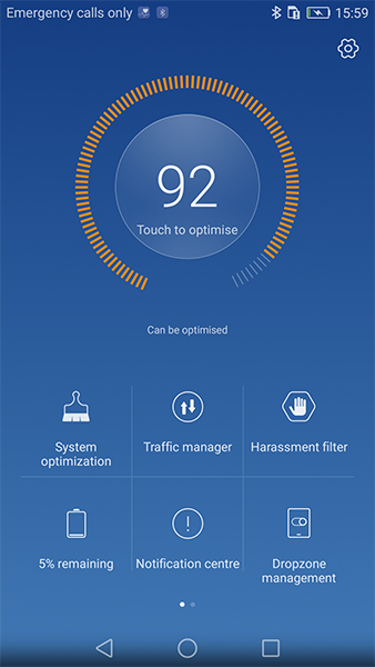 Huawei P9's phone manager application.