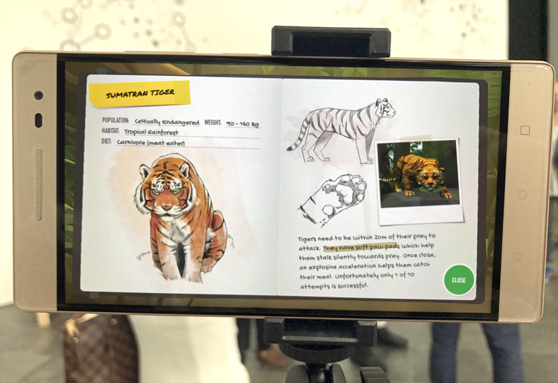 A separate screen with information about the animals pops up after you find them, adding an educational element.