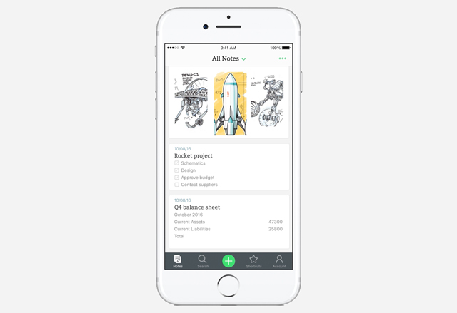 Evernote updates its iOS app with a complete redesign