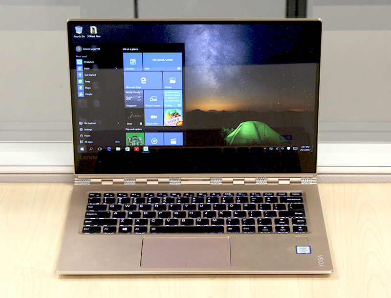 The Yoga 910 is Lenovo's latest Yoga convertible notebook.