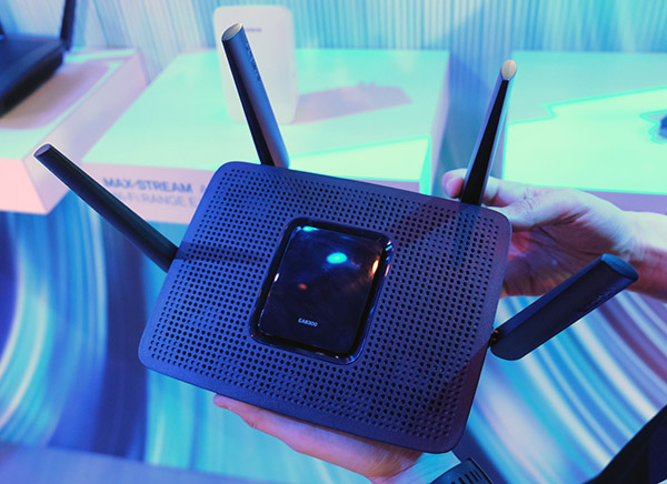 The Linksys EA8300 router.
